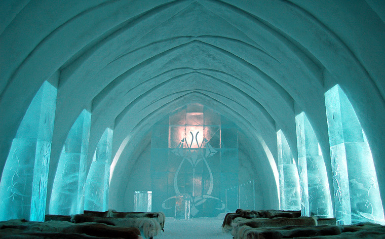 Ținutul zăpezii– Hotelul de Gheață, Suedia
