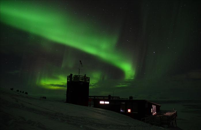 Stația meteorologică Aurora Sky de pe Muntele Nuolja.