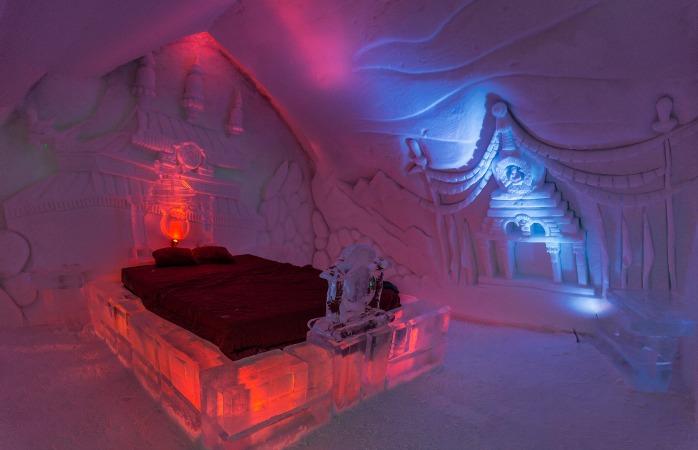 Află ce vise îți poate născoci tărtăcuța când dormi pe un pat de gheață ca cele din Holteul De Glace din Quebec