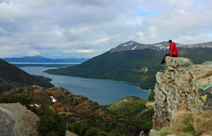 Prima zi pe bicicletă: Sissi și o priveliște de milioane pe deasupra provinciei Tierra del Fuego, Argentina