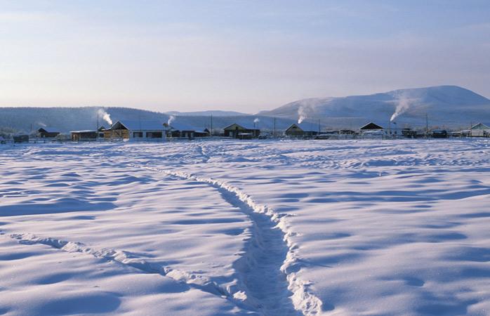 Atât de rece, dar atât de frumos se-arată ianuarie în Oymyakon