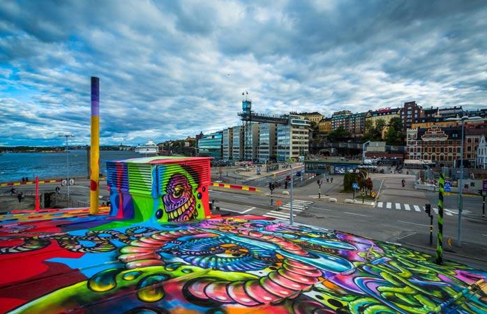 Culori și viață și ceva ce-ți amintește de spritul rebel și frumos al skaterilor din Herastrău. Doar că vorbim de un festival mondial ce se întâmplă în Stockholm