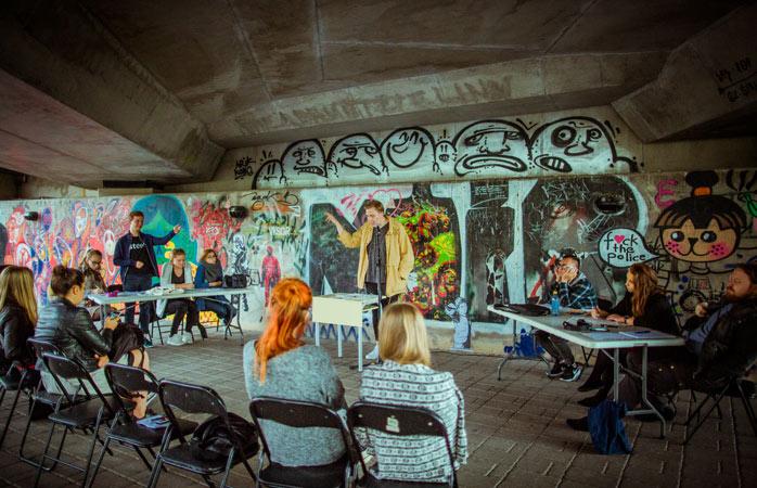 Hrană pentru minte, workshopuri și alte activități interactive, la festivalul Stencibility