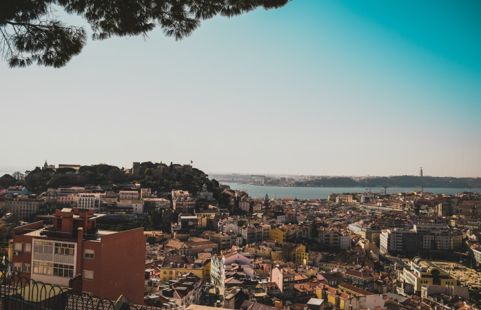 Miradouro da Graça, unul dintre nenumăratele puncte de belvedere ale Lisabonei
