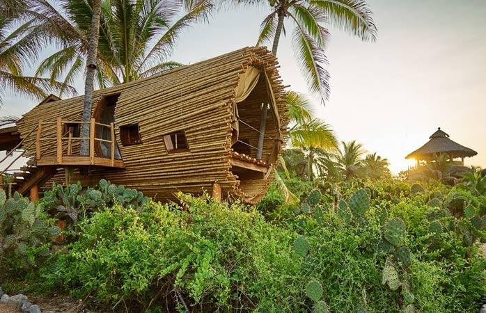 Casuțele în copaci luxoase și Mexicul se potrivesc de minune la Playa Viva.