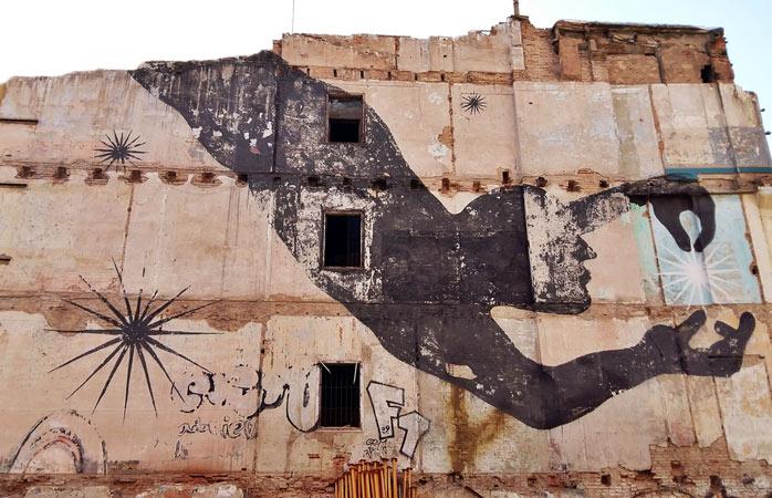 Graffiti la cel mai înalt nivel în cartierul Carmen