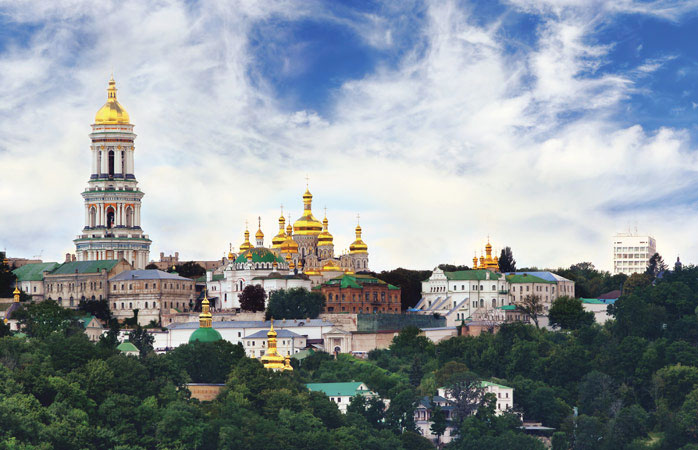 Lavra's golden domes aren't easily overlooked