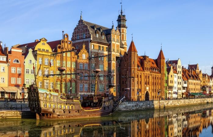 Faleza și Centrul Vechi din Gdańsk, Polonia