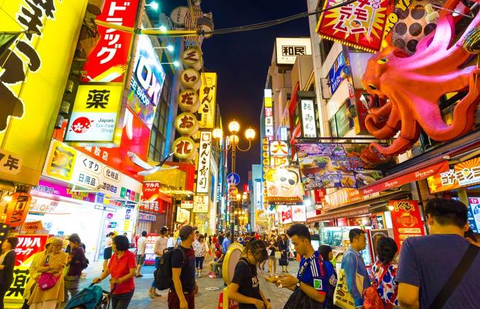 Afundă-te în haosul din Dōtonbori, Osaka