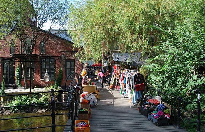 Piața de duminică dimineață din Cartierul Grunerlokka, Oslo