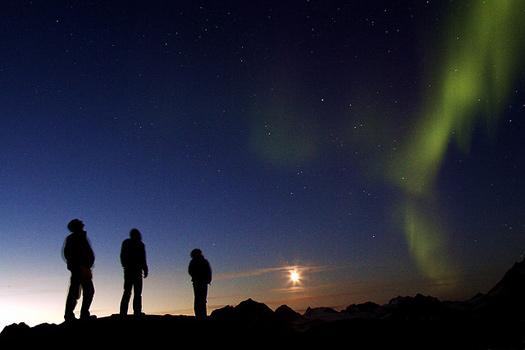 Trei prieteni și Luminile Nordului