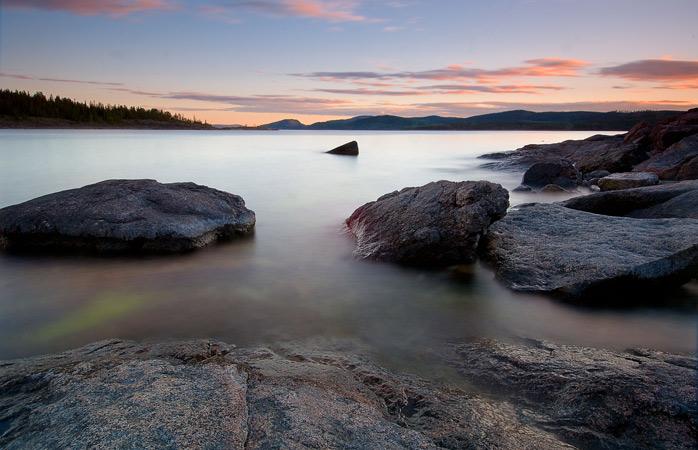Răsăritul de deasupra High Coast din Suedia