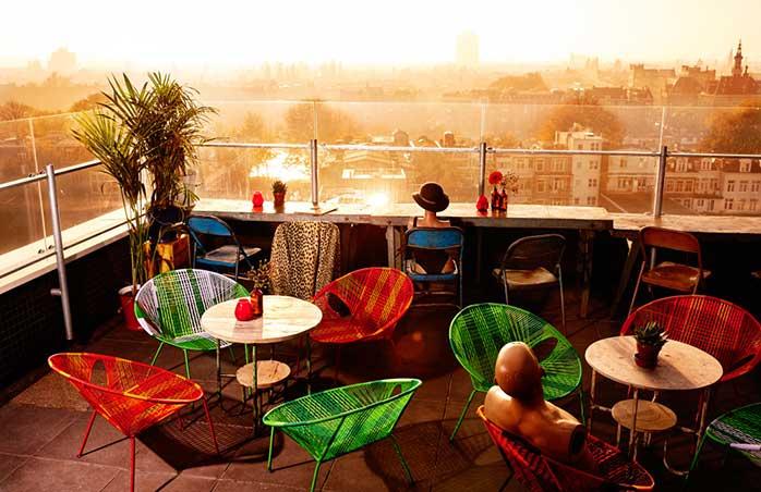 Priveliștea de la terasa barului Canva - cel mai bine se vede la apus @ Canvas / Mark Groeneveld