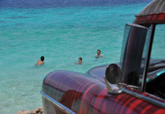 """Apele cunoscute de istorie drept Golful Porcilor și local numite """"Bahia de Cochino"""", din Cuba"""