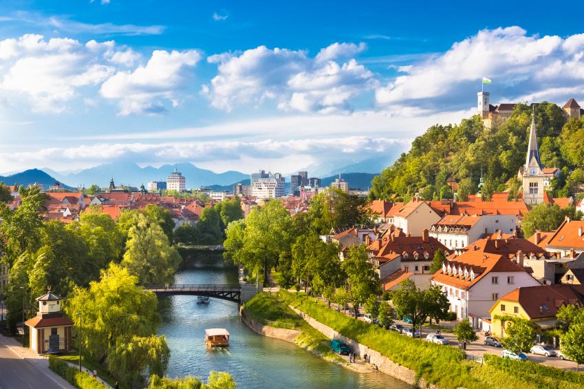 Panorama din Ljubljana, Slovenia