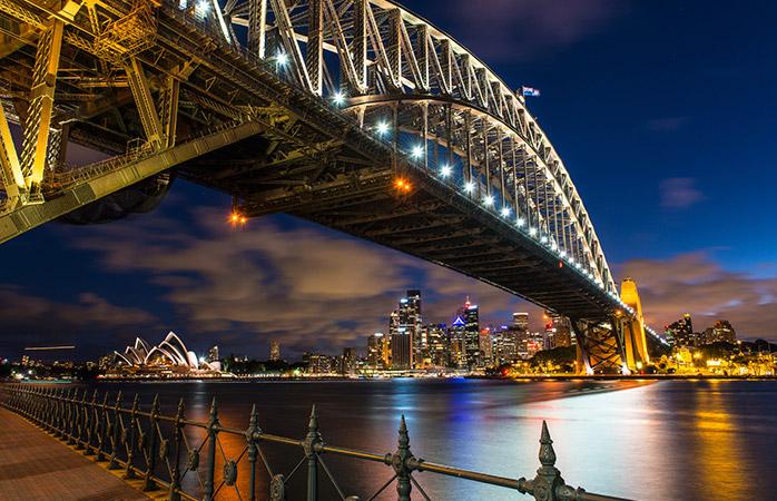 Una dintre cele mai romantice locații din Sydney – sub Podul Harbour